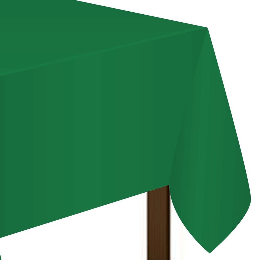 "View larger image of Green Plastic Tablecover, 54""-108"""