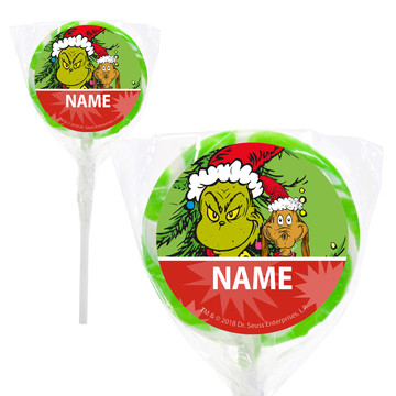 "Grinch Personalized 2"" Lollipops (20 Pack)"