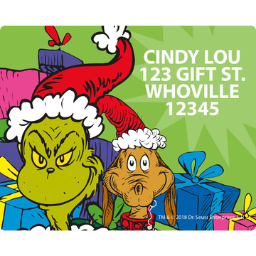Grinch Personalized Address Labels (Sheet of 15)