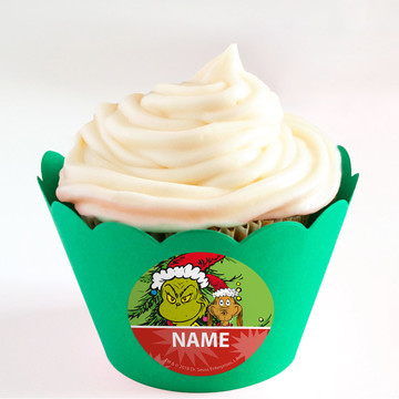 Grinch Personalized Cupcake Wrappers (Set of 24)