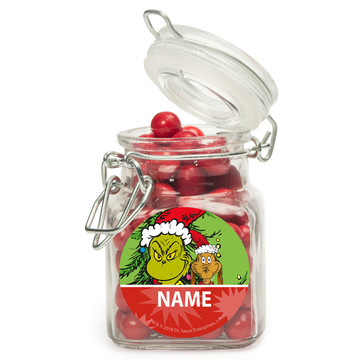 Grinch Personalized Glass Apothecary Jars (12 Count)