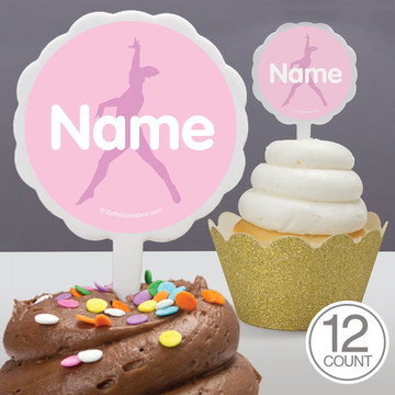 Gymnastics Personalized Cupcake Picks (12 Count)