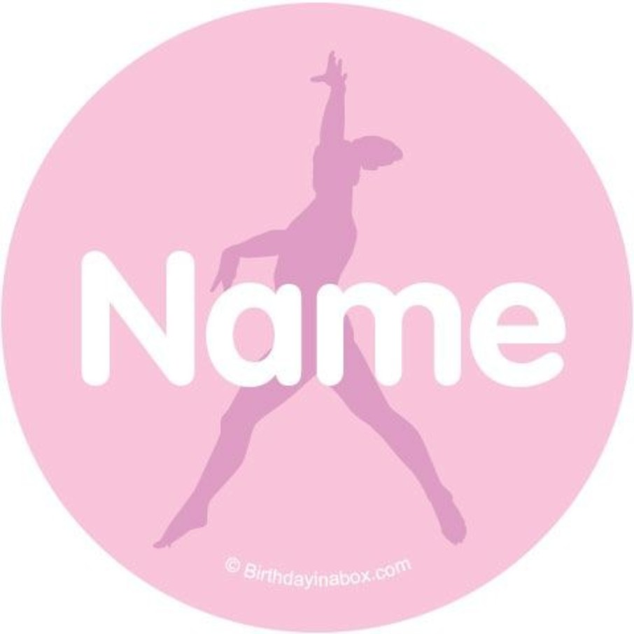View larger image of Gymnastics Personalized Mini Stickers (Sheet of 24)