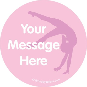 Gymnastics Personalized Stickers (Sheet of 12)