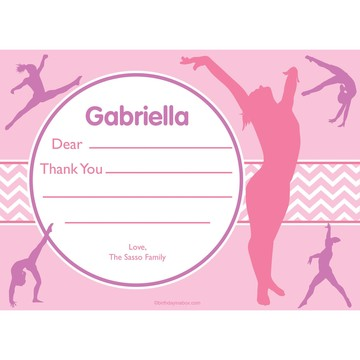 Gymnastics Personalized Thank You (Each)
