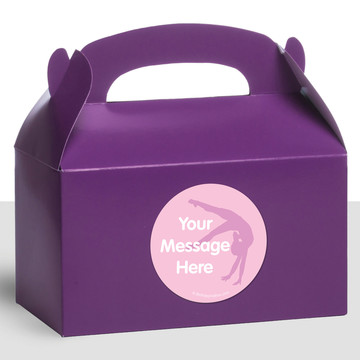 Gymnastics Personalized Treat Favor Boxes (12 Count)