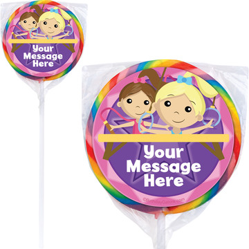 Gymnastics Star Personalized Lollipops (12 Pack)
