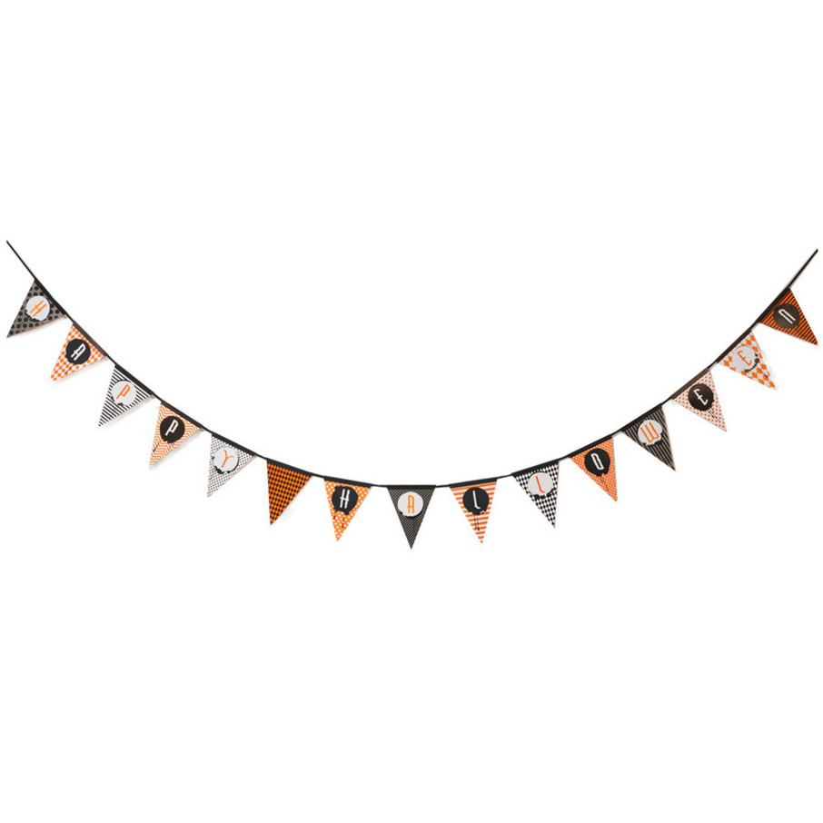 View larger image of Halloween Banner Garland & Paper Fans