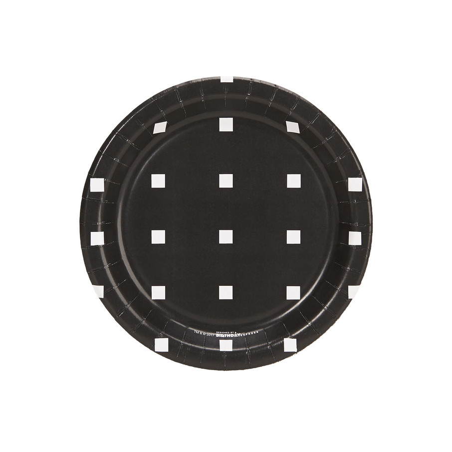 View larger image of Halloween Black and White Square Dot Dessert Plate (8)