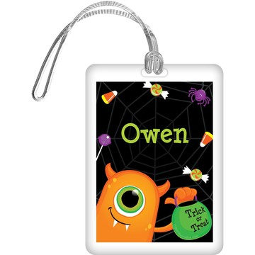 Halloween Personalized Bag Tag (Each)