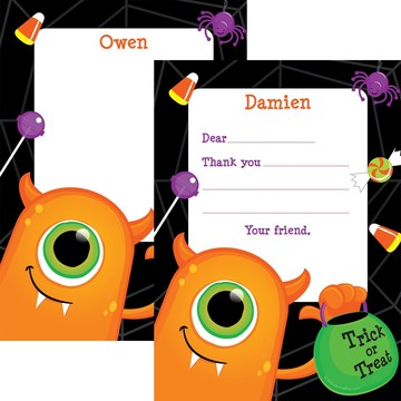 Halloween Personalized Thank You Note (Each)