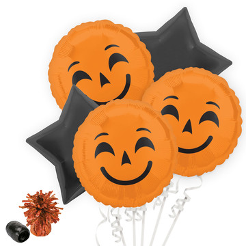 Halloween Pumpkin Emoji Balloon Bouquet Kit