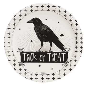 Halloween Trick or Treat Raven Dinner Plate (8)