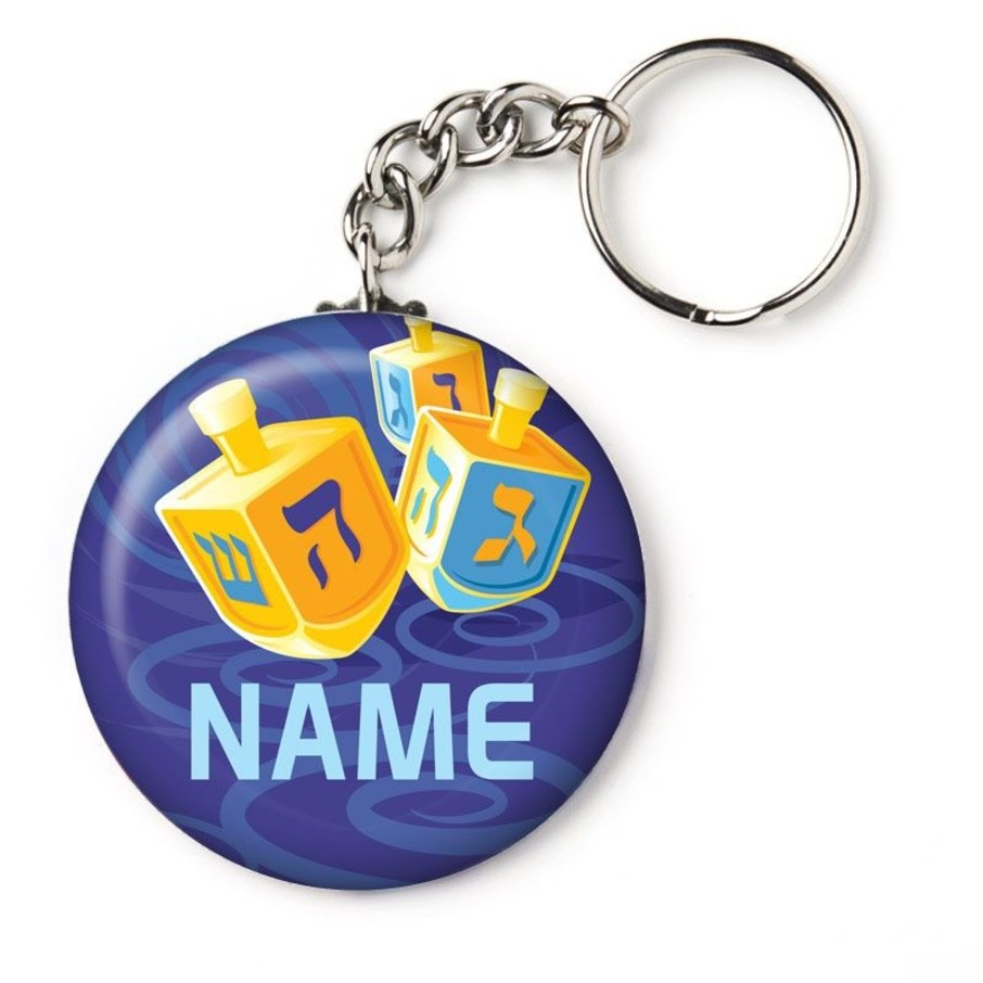 "View larger image of Hanukkah Personalized 2.25"" Key Chain (Each)"