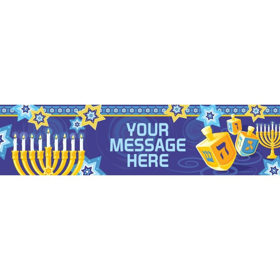 View larger image of Hanukkah Personalized Banner (Each)