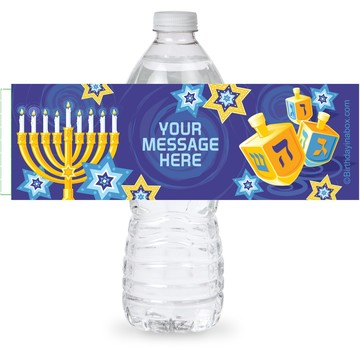 Hanukkah Personalized Bottle Label (Sheet of 4)