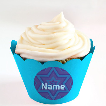 Hanukkah Personalized Cupcake Wrappers (Set of 24)