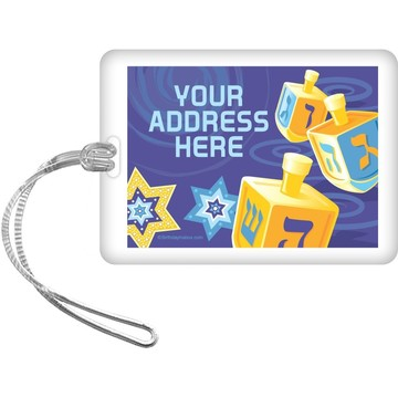Hanukkah Personalized Luggage Tag (Each)