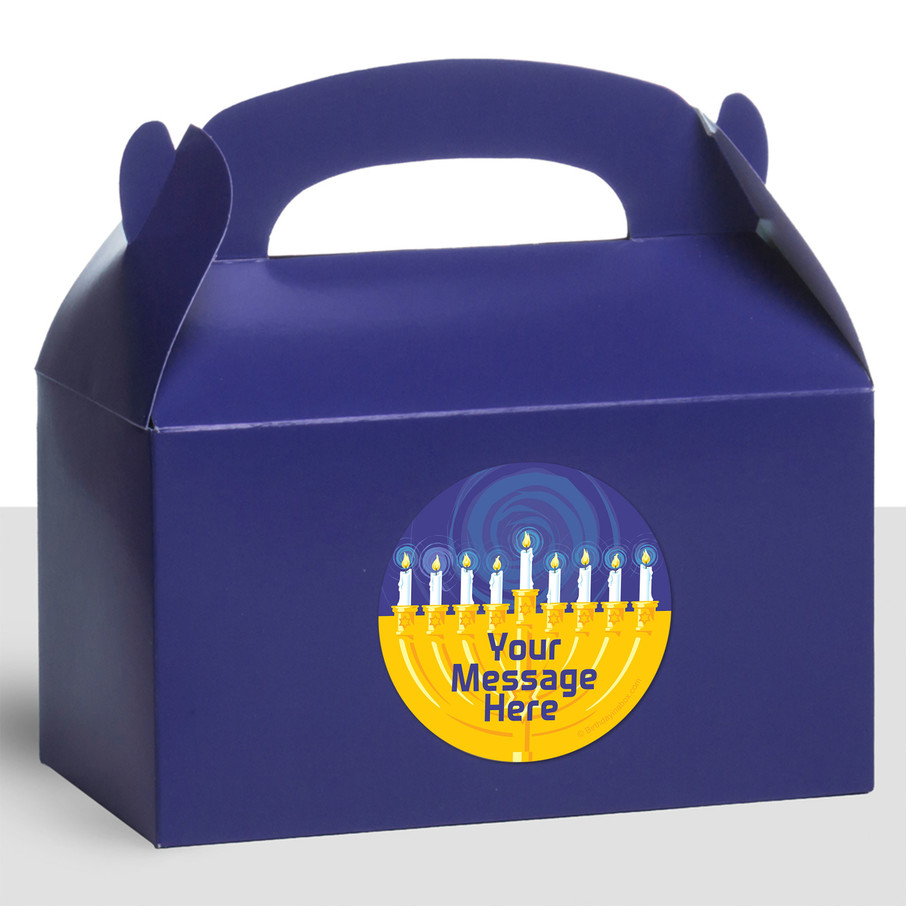 View larger image of Hanukkah Personalized Treat Favor Boxes (12 Count)