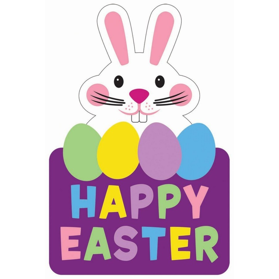 """View larger image of """"Happy Easter"""" Felt Hanging Decoration"""