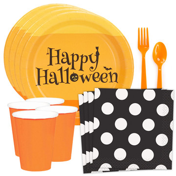 Happy Halloween Standard Tableware Kit (Serves 8)