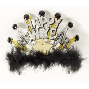 Happy New Year Tiara-Lite Up