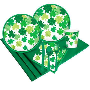 Happy St. Patrick's Day Blooming Shamrocks Party Pack (18)