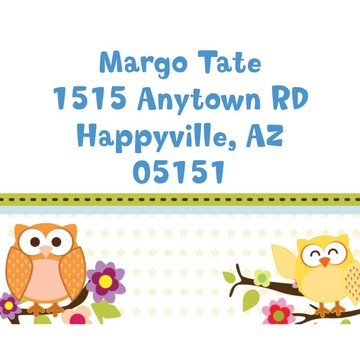 Happy Tree Personalized Address Labels (Sheet of 15)