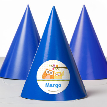 Happy Tree Personalized Party Hats (8 Count)