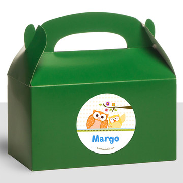 Happy Tree Personalized Treat Favor Boxes (12 Count)
