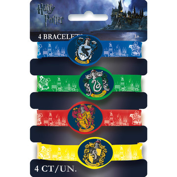 Harry Potter Rubber Bracelet Favors (4 Pack)