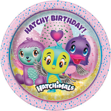 "Hatchimals 7"" Cake Plates (8)"