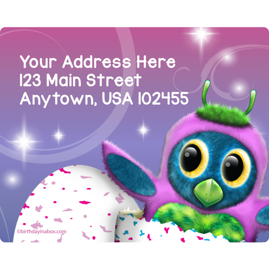 View larger image of Hatching Animals Personalized Address Labels (Sheet of 15)
