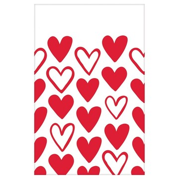 Heart Day Plastic Table Cover