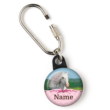 "Heart My Horse Personalized 1"" Carabiner (Each)"