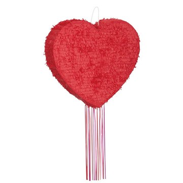 Heart Shaped Pull Pinata