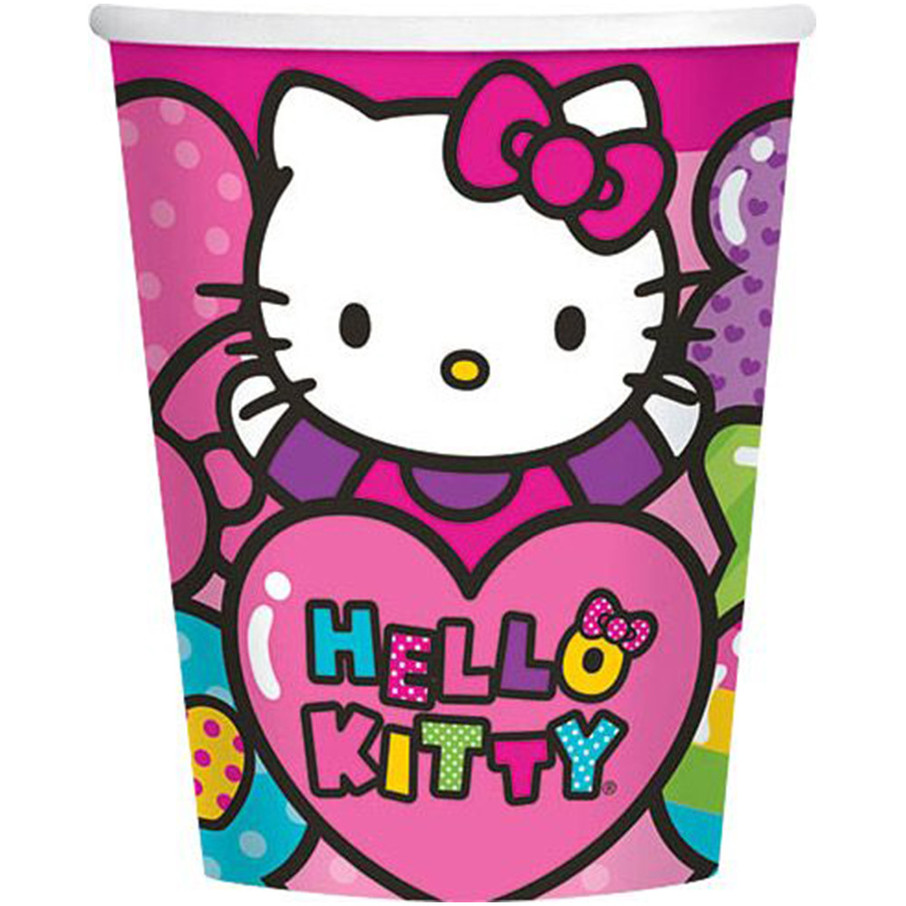 View larger image of Hello Kitty Rainbow 9oz Cups (8 Pack)