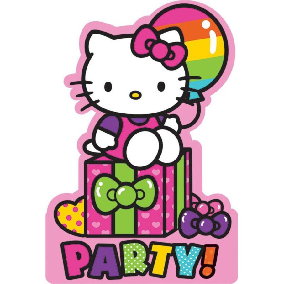 View larger image of Hello Kitty Rainbow Invitations (8 Pack)