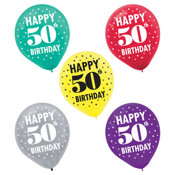 Here's to Your 50th Birthday Printed Balloons (15)