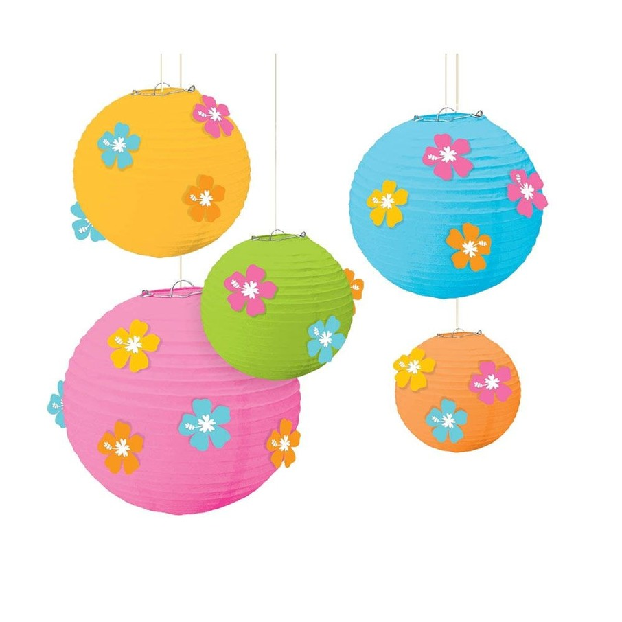 View larger image of Hibiscus Paper Lanterns W/ Flower Add-Ons (Each)