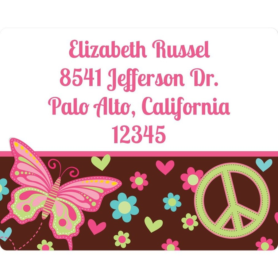 View larger image of Hippie Chick Personalized Address Labels (Sheet Of 15)