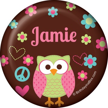 Hippie Chick Personalized Button (each)