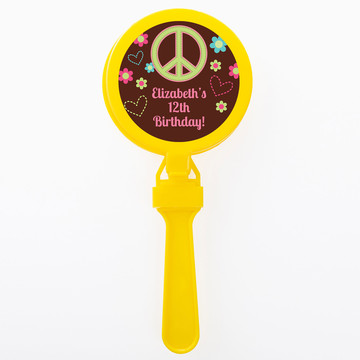 Hippie Chick Personalized Clappers (Set of 12)