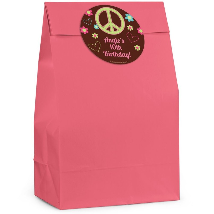 View larger image of Hippie Chick Personalized Favor Bag (Set Of 12)