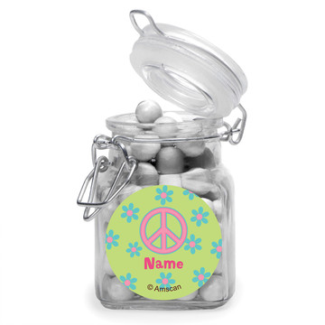 Hippie Chick Personalized Glass Apothecary Jars (12 Count)