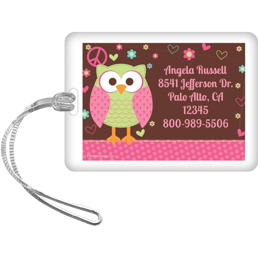 View larger image of Hippie Chick Personalized Luggage Tag (each)