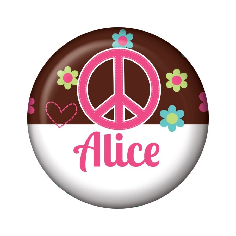 View larger image of Hippie Chick Personalized Mini Button (each)
