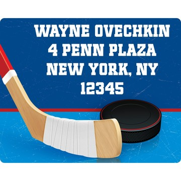 Hockey Party Personalized Address Label