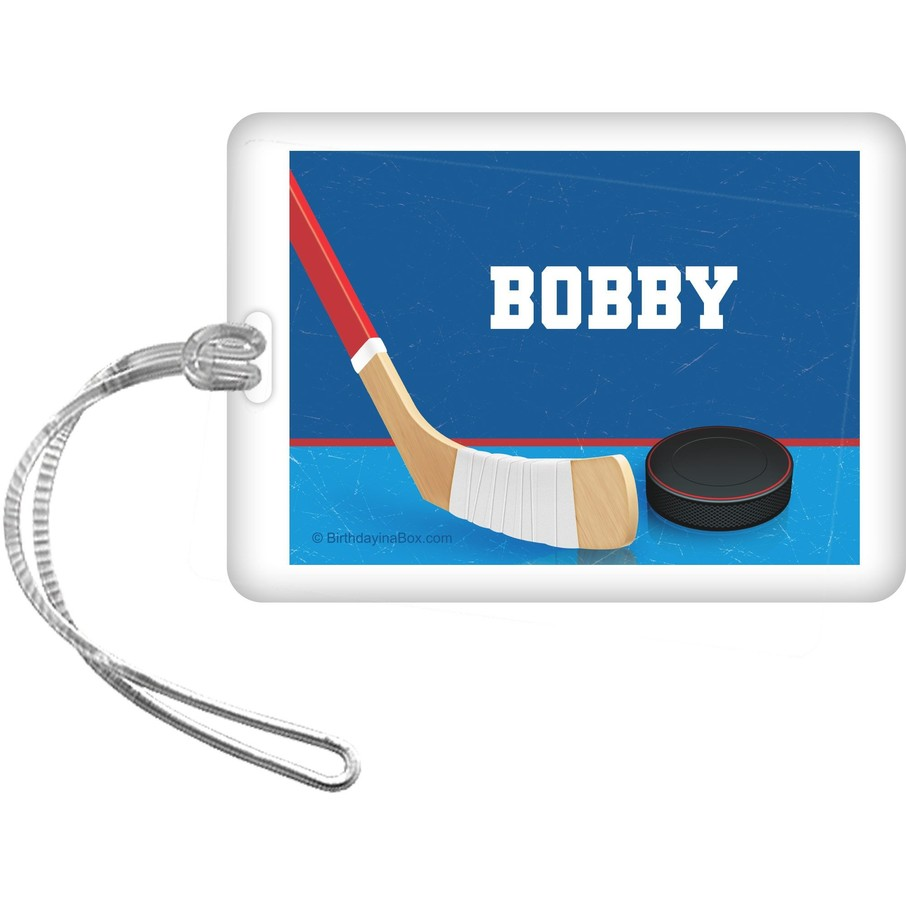 View larger image of Hockey Party Personalized Bag Tag (each)
