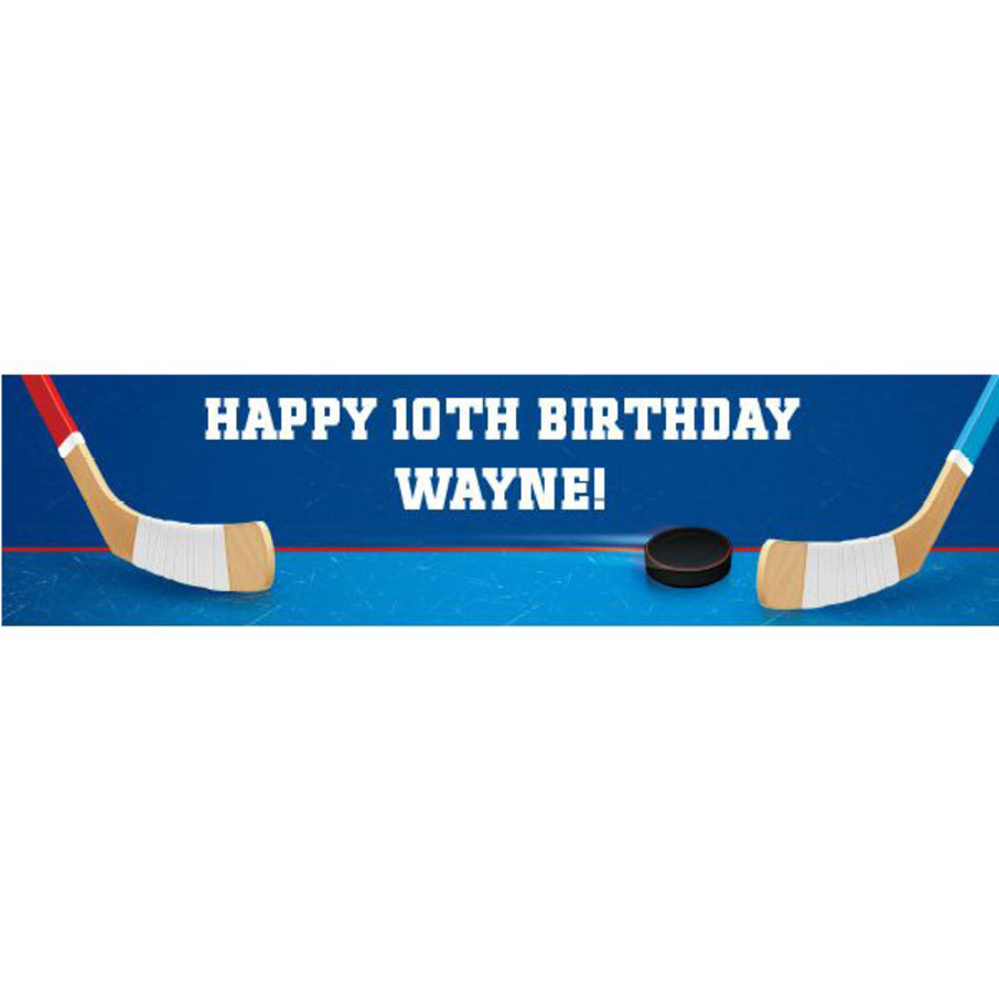 View larger image of Hockey Party Personalized Banner (each)